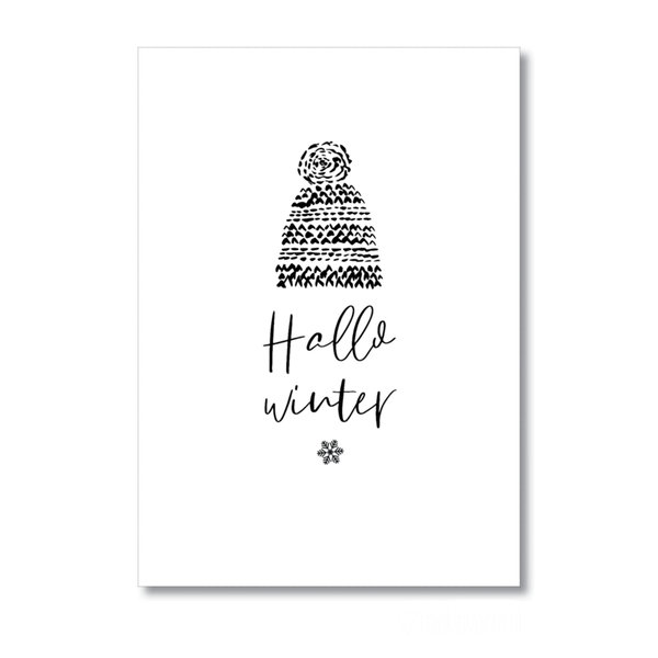 Poster A4 Hallo winter